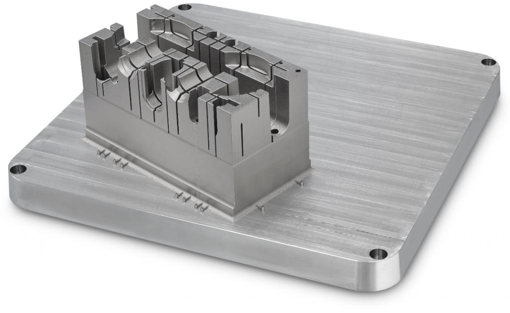 Mold core 3D printed on a GE Additive M Line 3D printer. Photo via EROFIO.