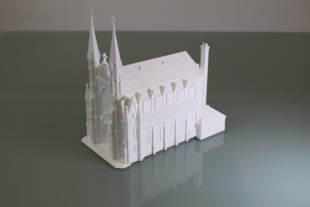 Birmingham Cathedral in PLA. Photo by 3D Printing Industry.