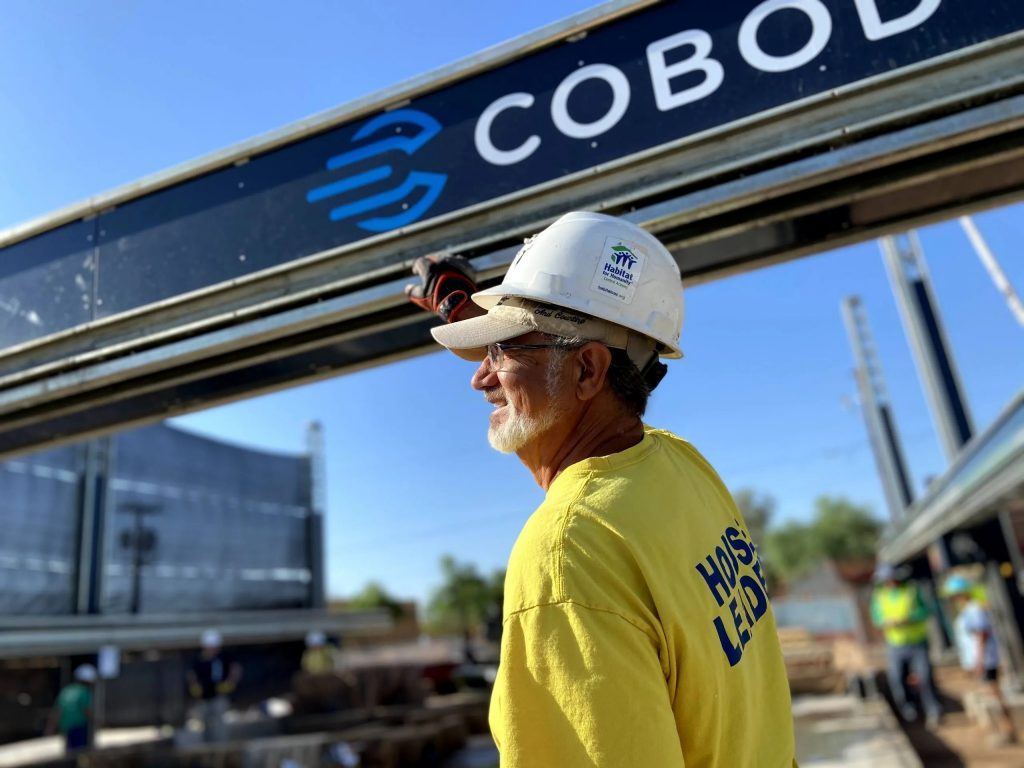 Habitat for Humanity at the construction site in Arizona. Photo via COBOD.