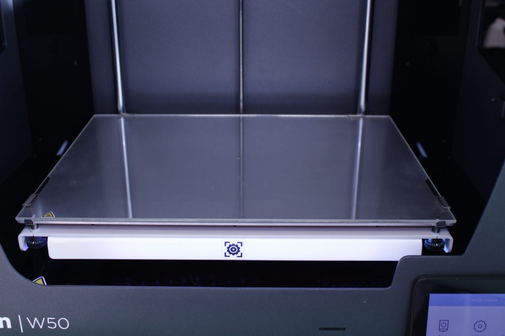 The build plate of the Epsilon. Photo by 3D Printing Industry.