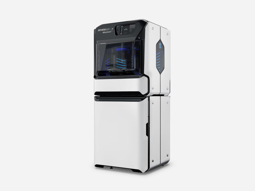 The J5 MediJet 3D printer. Photo via Stratasys.