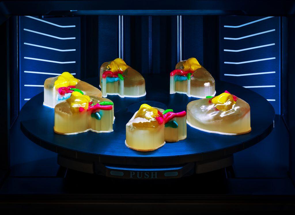 Multi-color medical models 3D printed on the J5 MediJet. Photo via Stratasys.