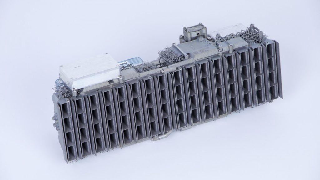 A 3D printed band synthetic aperture radar for high-altitude UAV surveillance applications. Image via SLM Solutions.