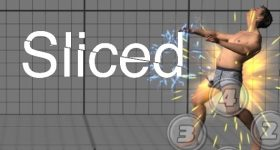 Featured image shows the Sliced logo on top of a screenshot from Fora Robotics' 3D scanning-based fighting game. Image via Fora Robotics.