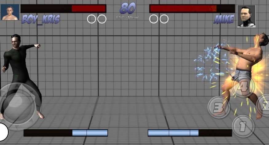 A screenshot taken from Fora Robotics' 3D scanning-based fighting game. Image via Fora Robotics.