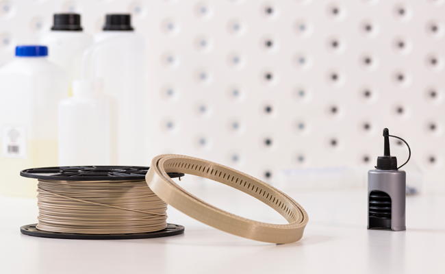 Radiation-resistant bearing ring for a spacecraft gimbal 3D printed with Z-PEEK. Photo via Zortrax.  - Radiation resistant bearing ring for a spacecraft gimbal 3D printed with Z PEEK - Zortrax launches new space-grade Z-PEEK 3D printing filament