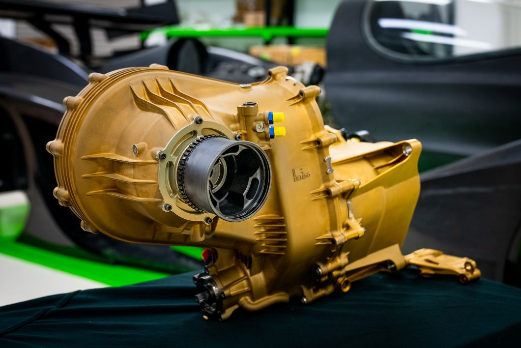 Rodin Cars' 3D printed gearbox.