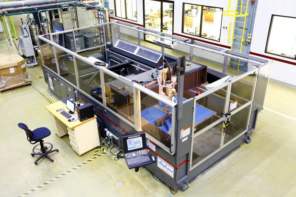 SABIC's Big Area Additive Manufacturing (BAAM) machine.
