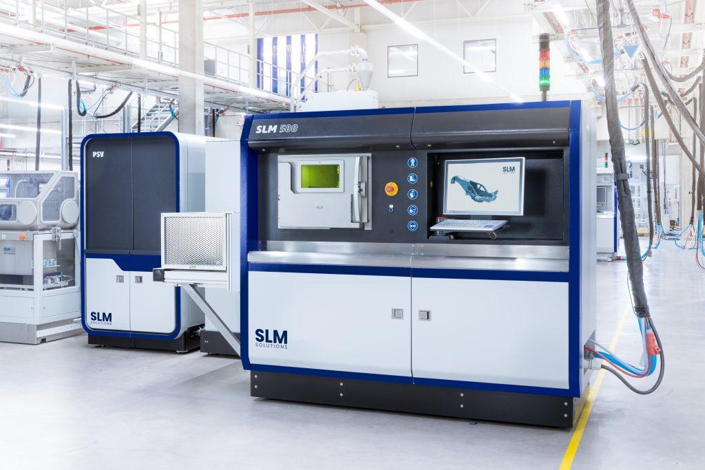 SLM Solutions' SLM 500 3D printer.