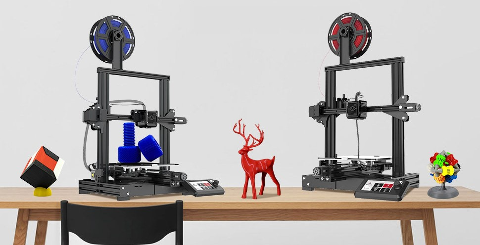 The Voxelab Aquila 3D printer range. Photo via Voxelab.