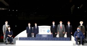 P&G's 3D printed podium for the Tokyo 2020 Olympic Games.