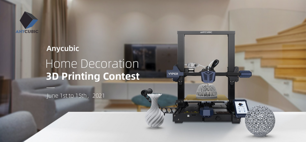 The new Vyper 3D printer will be among the prizes. Image via Anycubic.