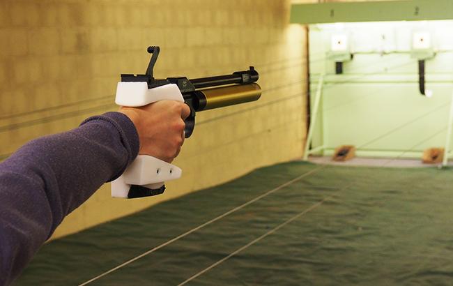 Celine Goberville's Zortrax-3D printed pistol grip.