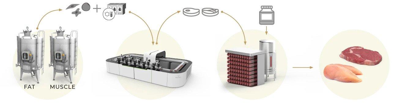 MeaTech's 3D bioprinting process. Image via MeaTech.
