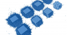 The spatter formation using Linde's novel argon-helium gas mixture in the print chamber. Image via Linde Group.
