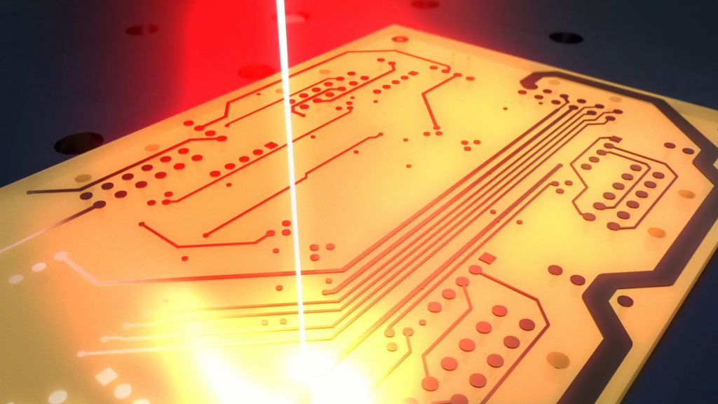 PCB 3D printed via CLAD. Image via ioTech.