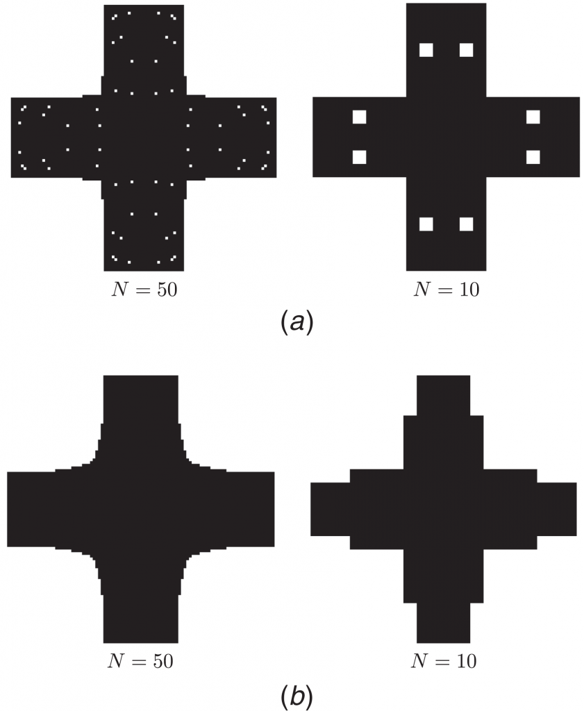 Messner's AI iteratively optimizing a part geometry. Image via Mark Messner.