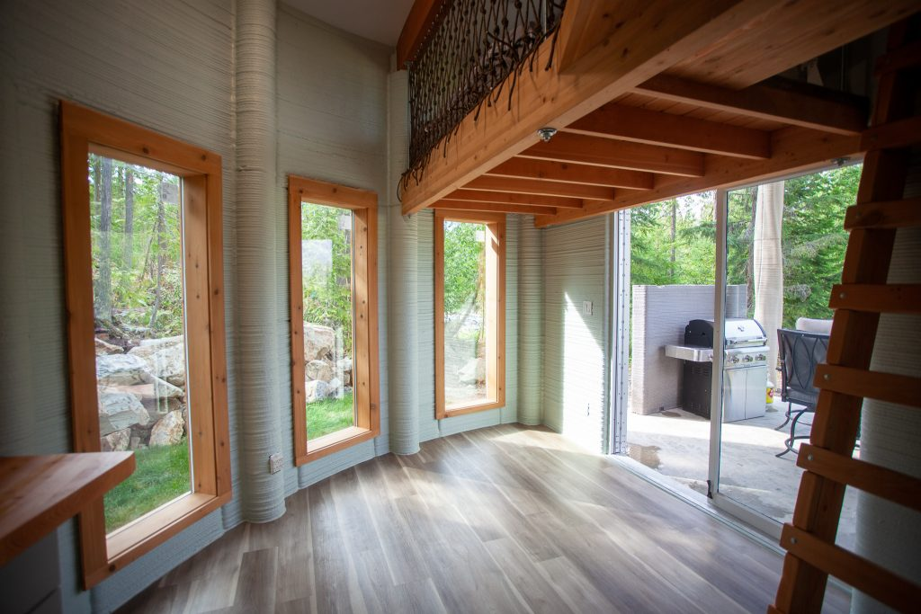 The interior of Twente AM's 3D printed home.