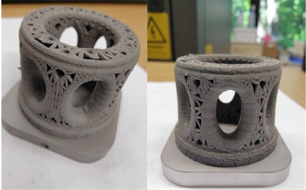 Tungsten alloy parts 3D printed by Bayerische Metallwerke. Photo via Bayerische Metallwerke.