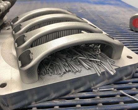 Third build showing four 3D printed horizontal Service Handles. Photo via NCAM.