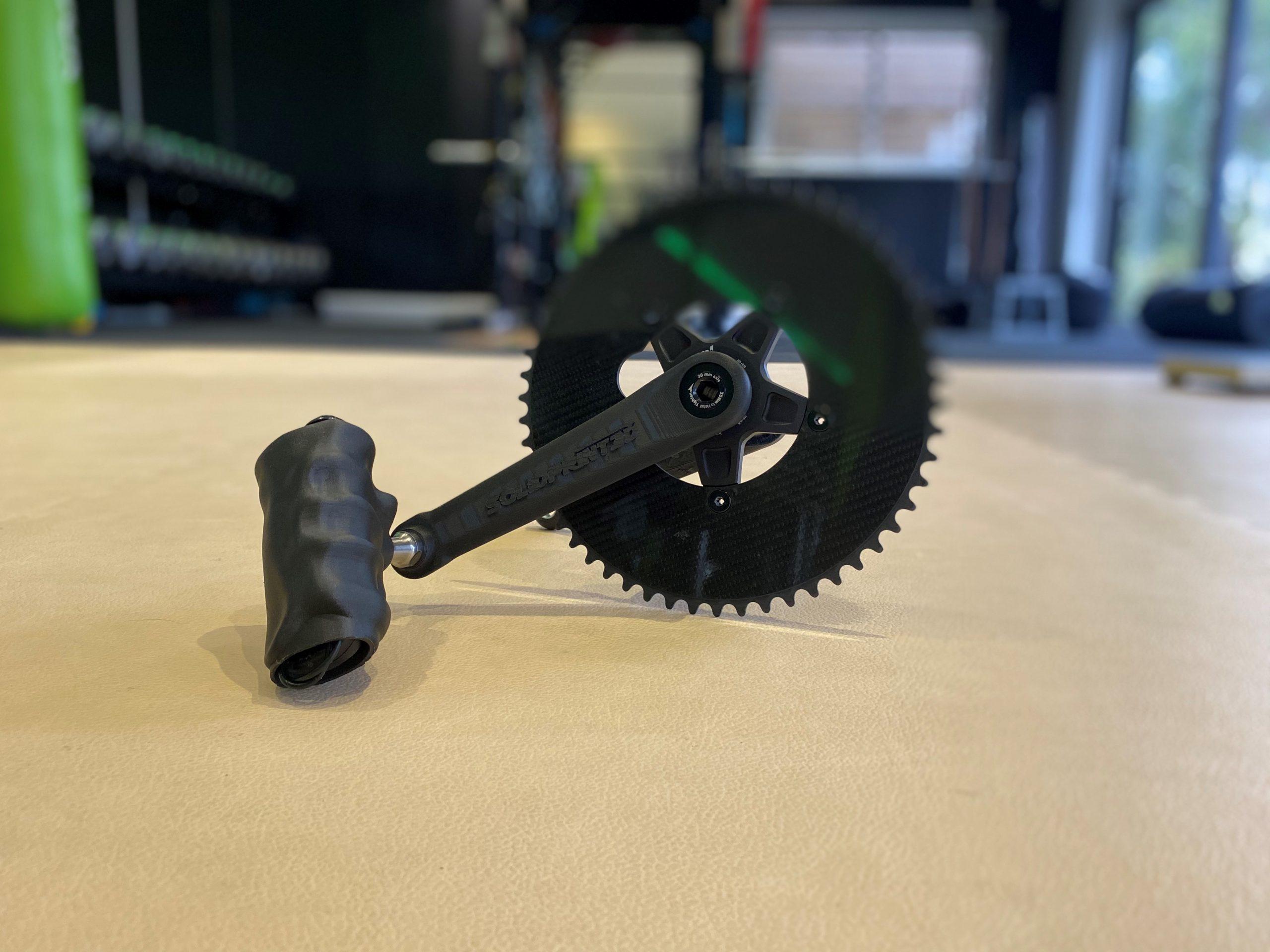 Townsend used a Markforged 3D printer to produce his custom handbike crank arm. Photo via Markforged.