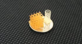 4D Biomaterials's 4Degra printed in a honeycomb structure. Photo via 4D Biomaterials.