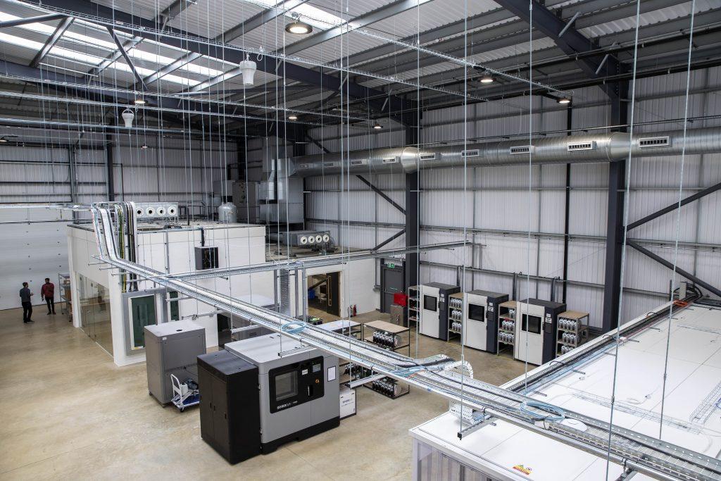 The Digital Manufacturing Centre's new 3D printing facility. Photo via DMC.