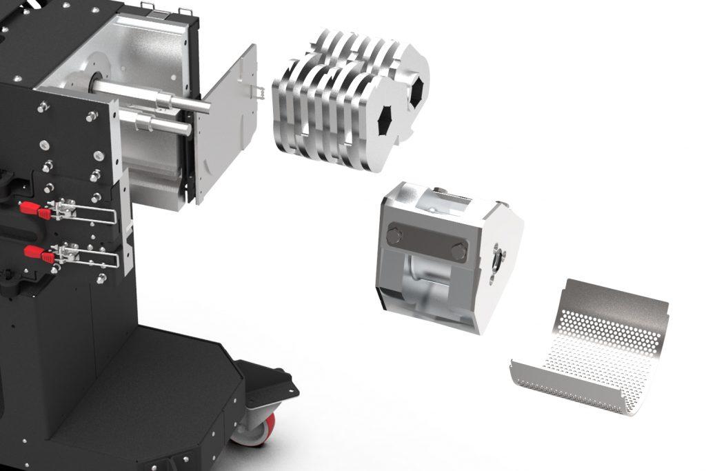 The customizable components of the GP20. Image via 3devo.