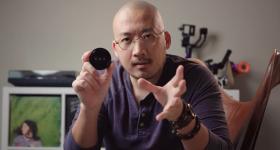 George Moua and his 3D printed wiggle lens. Photo via George Moua.