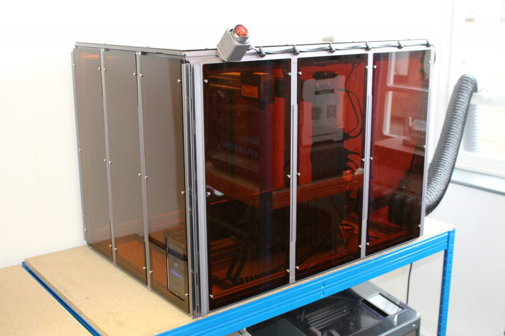 The optional Enclosure. Photo by 3D Printing Industry.