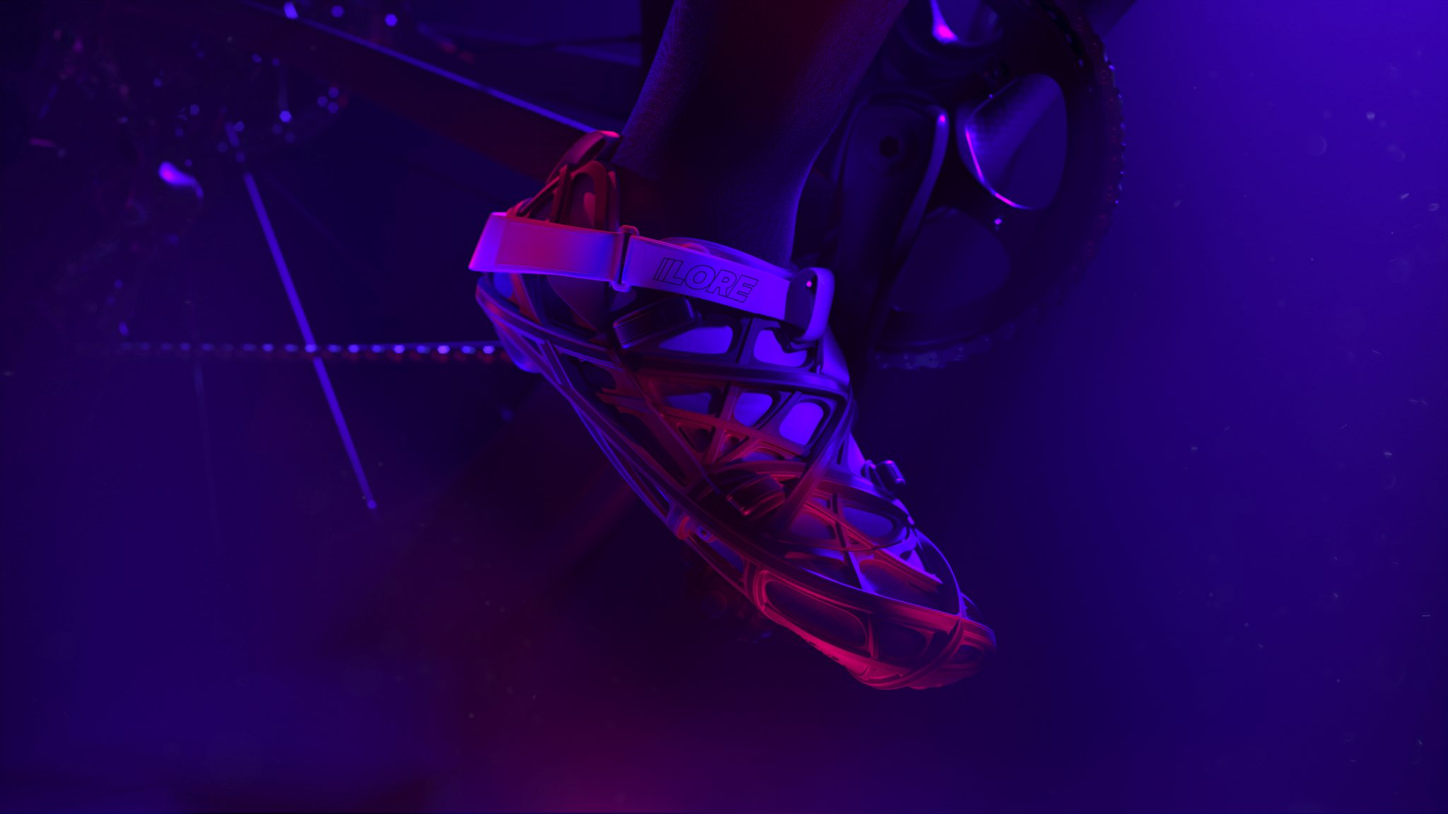 the LoreOne is claimed by Lore to be the first 3D printed hard-shelled carbon shoe. Photo via Lore.