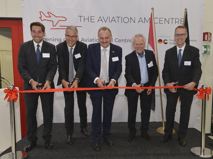 The Aviation AM Centre ribbon cutting ceremony. Photo via AM GLOBAL.
