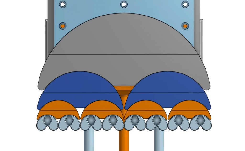 The fractal assembly of the vise results in eight 'grippers' on each jaw. Image via Teaching Tech.