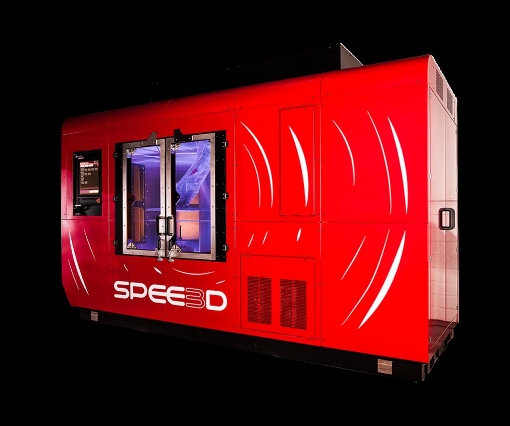 SPEE3D's WarpSPEE3D 3D printer. Photo via SPEE3D.