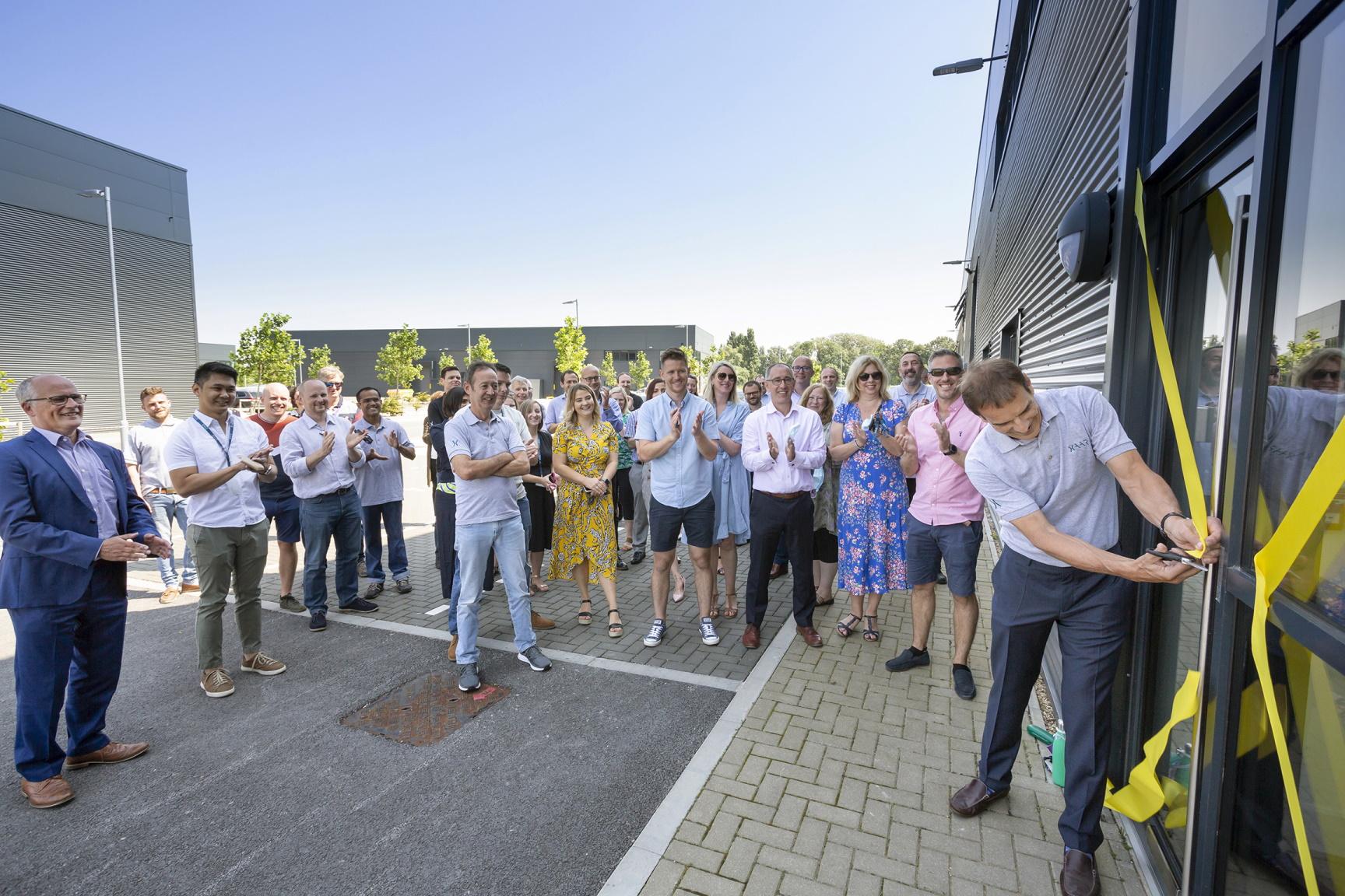 The opening of Xaar's new headquarters. Photo via Xaar.