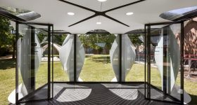 The inside of the ALIS pod, featuring a plant-based 3D printed floor. Photo via Zaha Hadid Architects.
