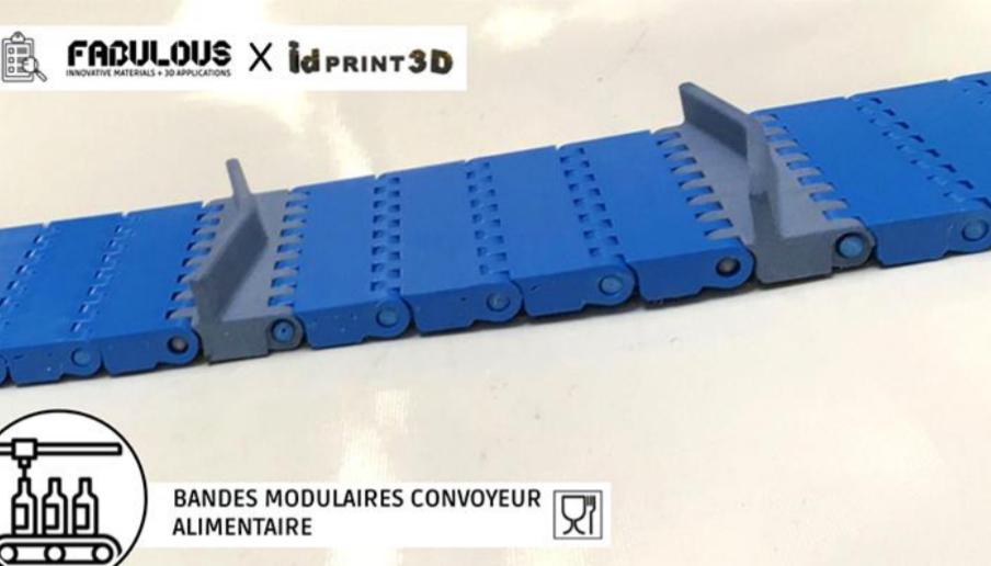 IDPRINT 3D has used BLUECARE powder to 3D print modular food conveyor belts. Image via Farsoon Technologies.