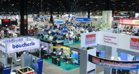 The show floor at the NPE Orlando plastics conference in 2021.