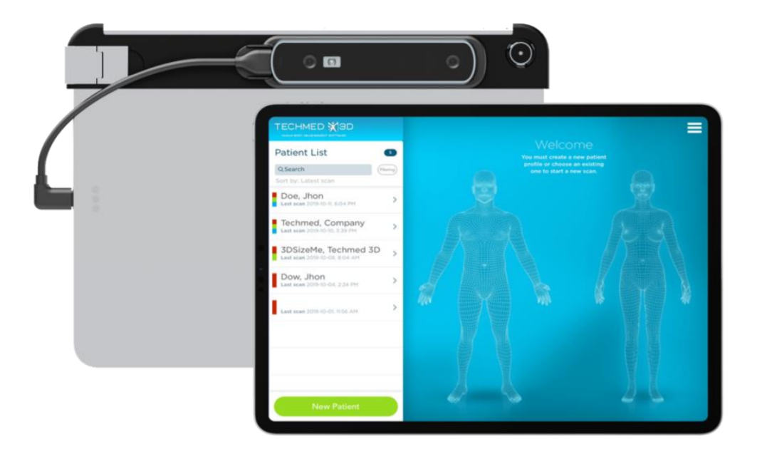 Occipital has integrated support for its Structure Sensor Pro into TechMed 3D's software suite. Image via TechMed 3D.