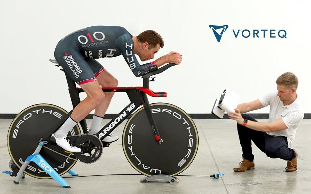Metrology Engineer Sam Quilter 3D scans a rider with Artec Leo. Image via Vorteq.