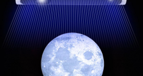 A graphic depicting Creality's CR-Scan 01 'scanning' the Earth.