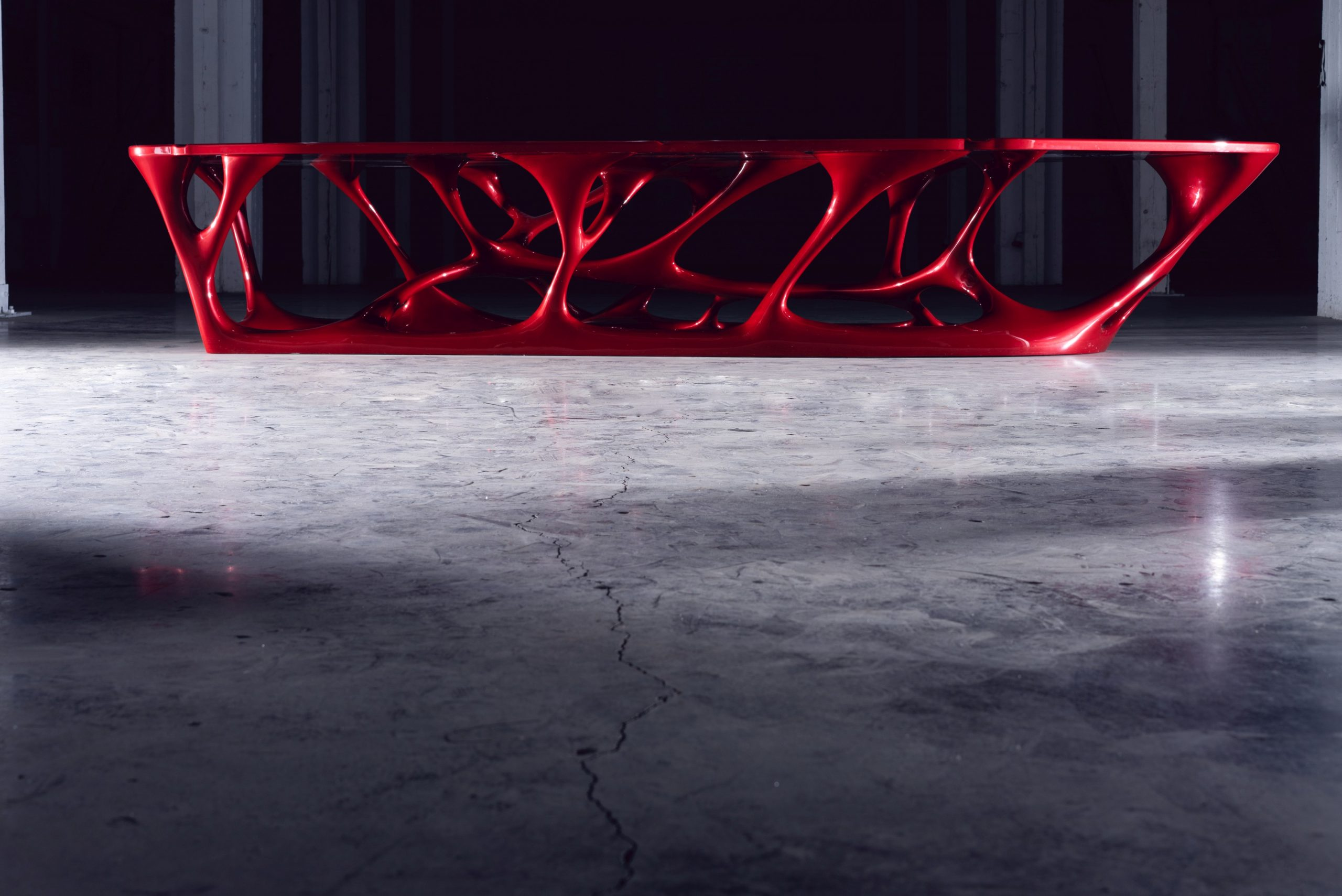WOLF Group has previously fabricated the first 3D printed conference table in the world. Photo via WOLF Group.