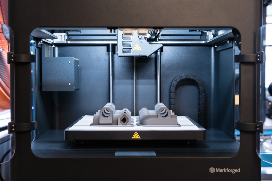 Markforged's Metal X system during 3D printing.