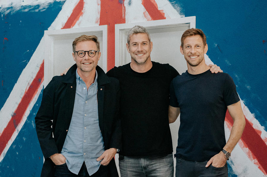 The team behind Radford's revival, including F1 world champion Jenson Button.