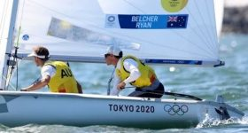 The Australian sailing team won gold at the Tokyo Olympics. Photo via Tokyo 2020/Fehrmann Alloys.