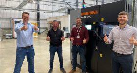 The DMC team 3D prints Scalmalloy on a Renishaw system. Photo via DMC.