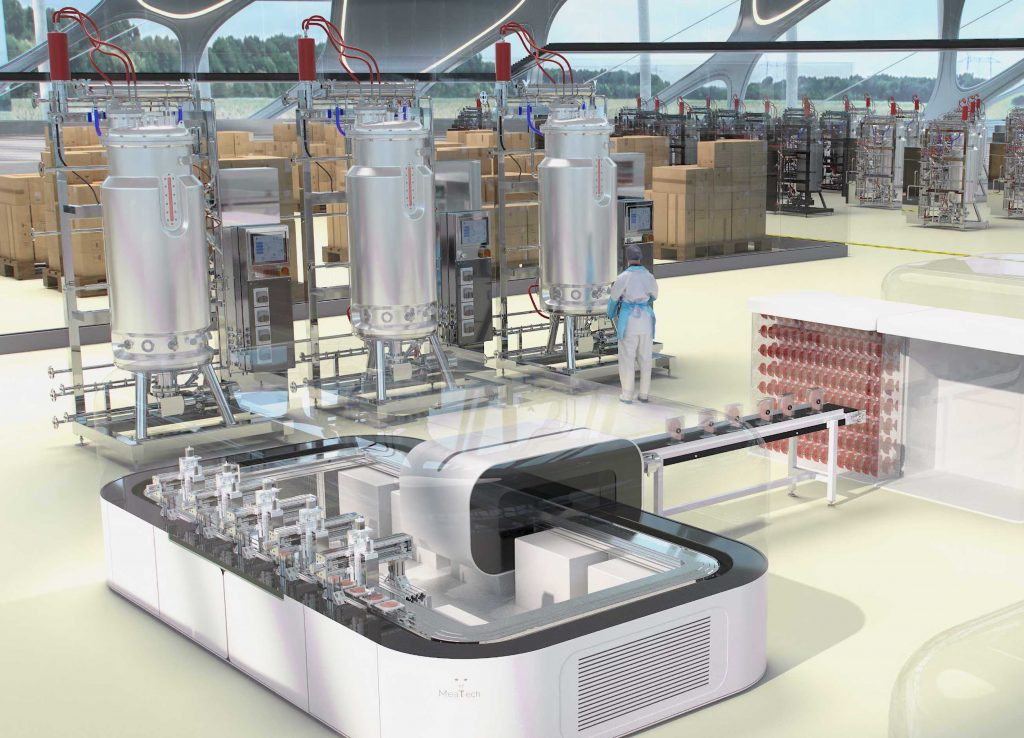 A rendering of a MeaTech production facility.