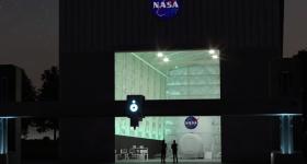 NASA's Vulcan 3D printer installed at the NASA Johnson Space Center.