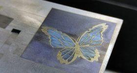Color engraving on titanium with an endurance laser. Photo via Endurance Lasers.