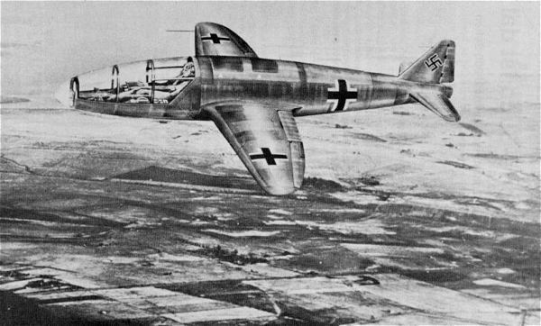 Illustration of the Heinkel He 176. Image via Nevington War Museum.